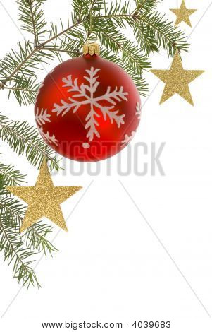 Christmas Border With White Copyspace