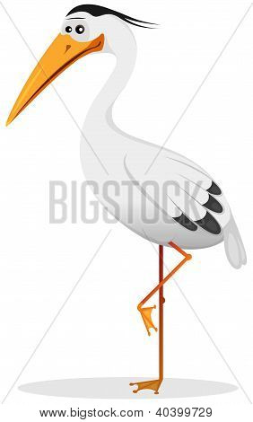 Cartoon Heron Bird