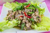 Cuisine Larb Moo Spicy Minced Pork Salad poster