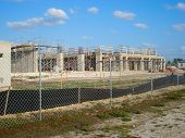picture of firehouse  - Partial construction of the new Firehouse showing the approximate size of the building - JPG