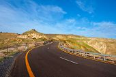 picture of golan-heights  - Asphalt Road on the Golan Heights Israel - JPG
