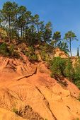 Red Cliffs In Roussillon (les Ocres), Provence, France
