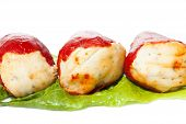 foto of piquillo pepper  - Piquillo peppers stuffed with cod and mushrooms - JPG