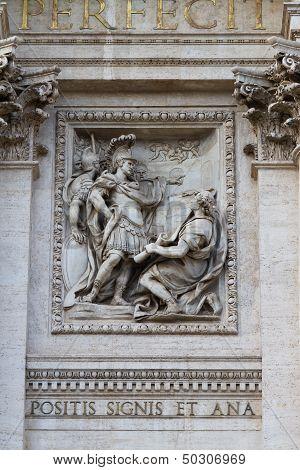 Sculpture In The Fontana Di Trevi