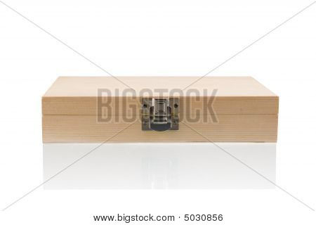 Wooden Box On The Reflect Background