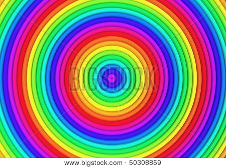 Multicolor torus pattern background 3d illustration