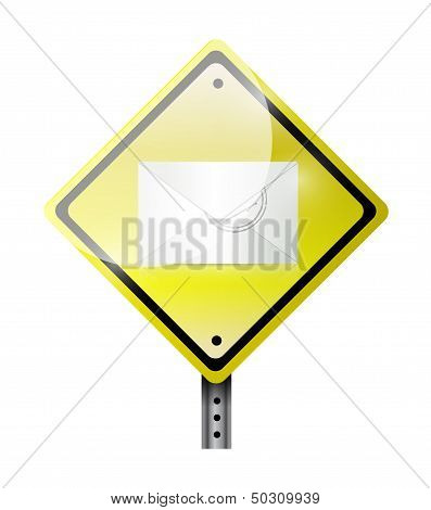 Envelope Road Sign Illustration Design
