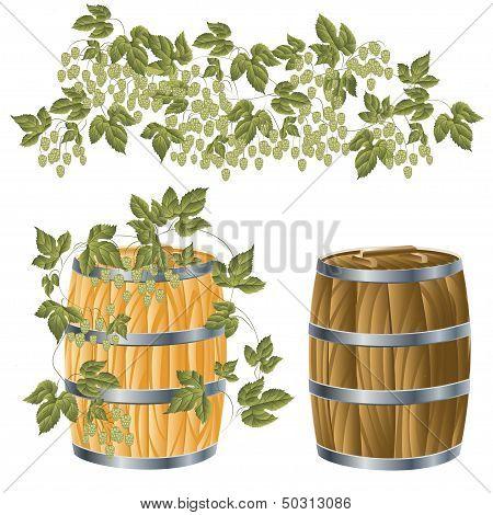 Wooden Barrel Of wine