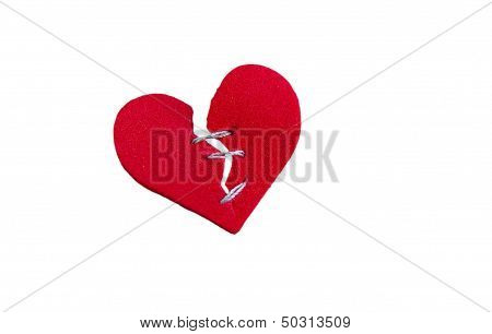 Mended Heart On White