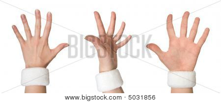 Woman Hand From Three Different Sides