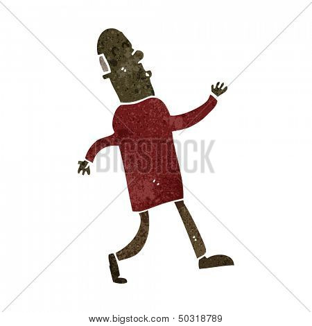 retro cartoon strutting businessman