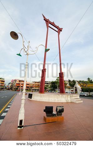 BANGKOK, THAILAND - AUGUST 31: Giant Swing in Bangkok Thailand