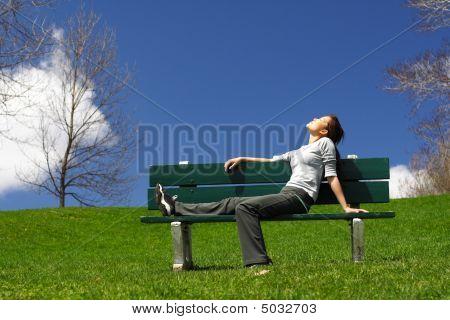 Relajarse después de una carrera
