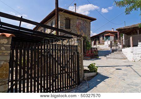 Traditional greek village at central Macedonia, Nikiti, Chalkidiki