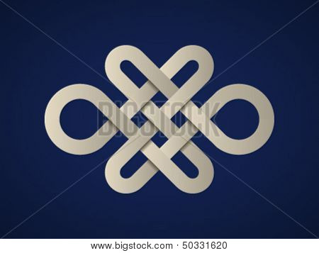 vector paper endless celtic knot