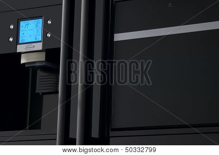 Close Up Of A Refrigerator Display