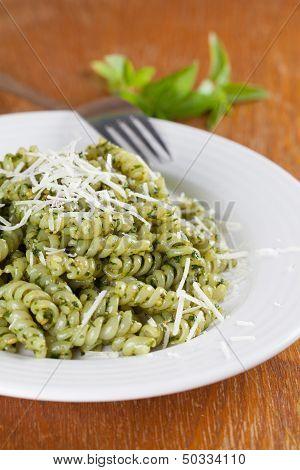 Fusilli With Pesto And Parmesan