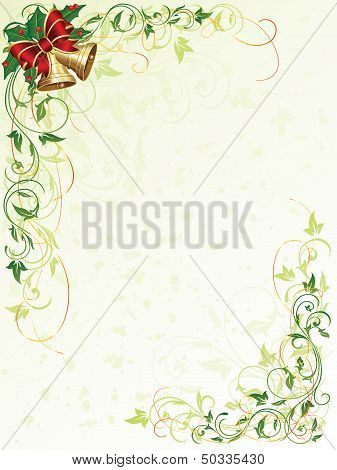 Floral background with bells