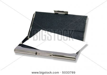 Metall Bussines Cardholder With Clear Visiting Card