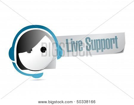 Live Support Illustration Design