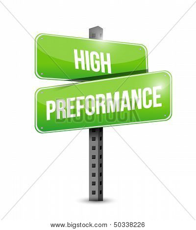 High Performance Road Sign Illustration Design