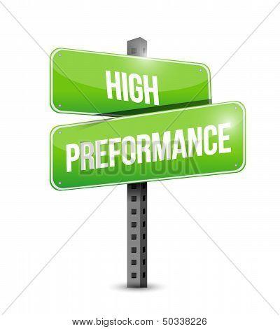 High Performance Road Sign Illustration Design