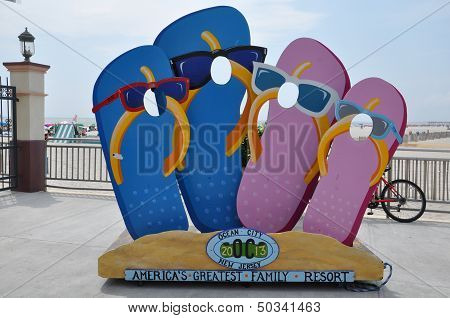 Ocean City Boardwalk in New Jersey