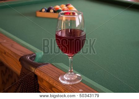 Red wine and pool