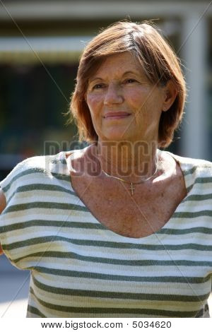Active Senior Woman Smiling
