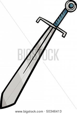 Sword Clip Art Cartoon Illustration