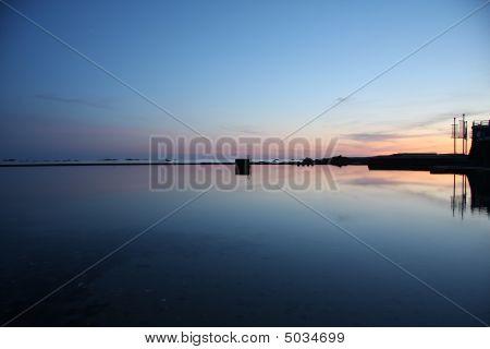 Havre De Pas Swimming Pool At Dusk