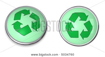 Button Recycling Arrows