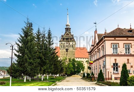The evangelical church of Saschiz village, Romania