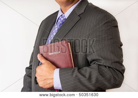 Business Man with a Bible (Ethics in Business)