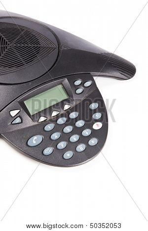 Speaker phone over white background