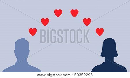 Social media profiles in love
