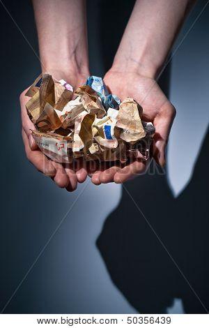 Hands Giving Or Receiving Money