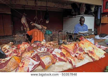 African Butcher Shop