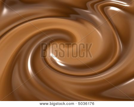 Swirling Melted Chocolate
