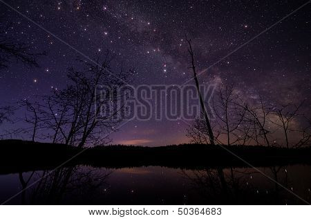 Milky Way With Large Twinkling Stars