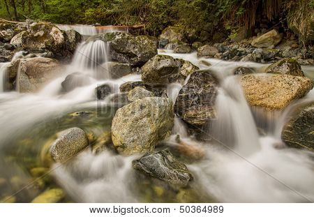 Mini Waterfalls Over Rocks