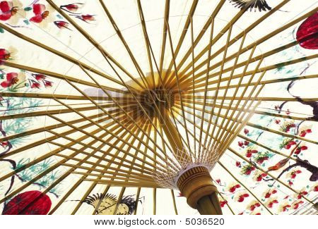 Traditional Asian Paper Umbrella