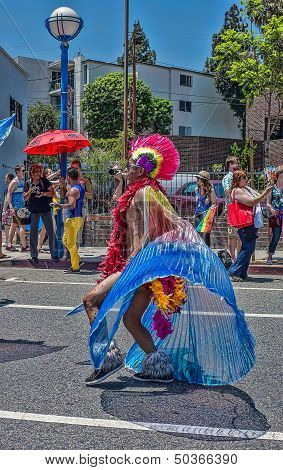 Los Angeles Ca Usa - June, 2013: La Gay Pride Parade Event