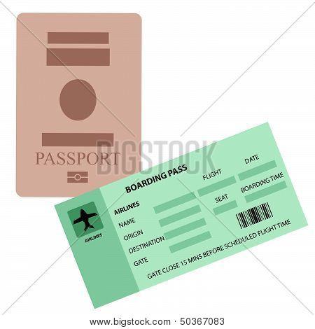 Passpoart And Boarding Pass