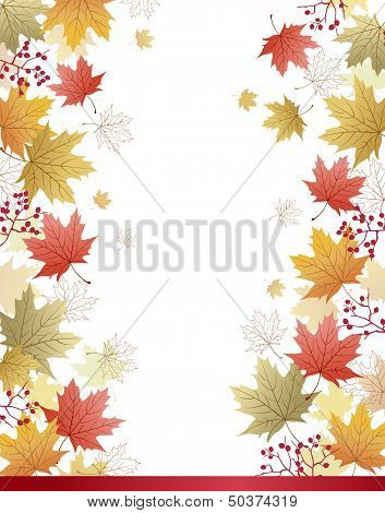 Maple Leaves Corner Background