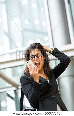 Woman Business Crisis And Stress