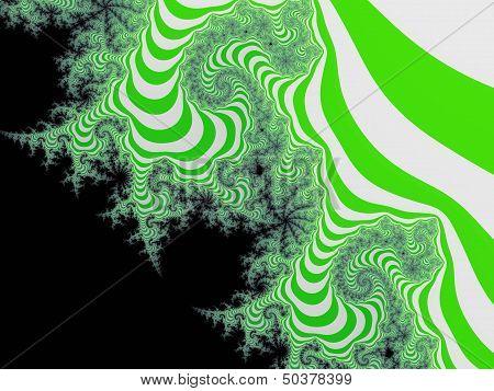 Green striped fractal background
