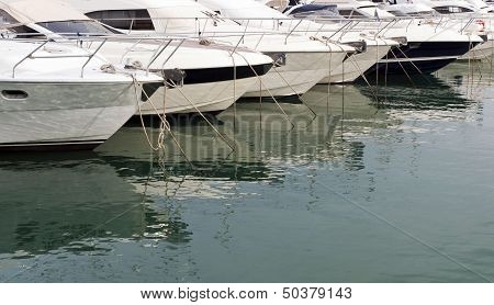 Boats And Yachts At Marina