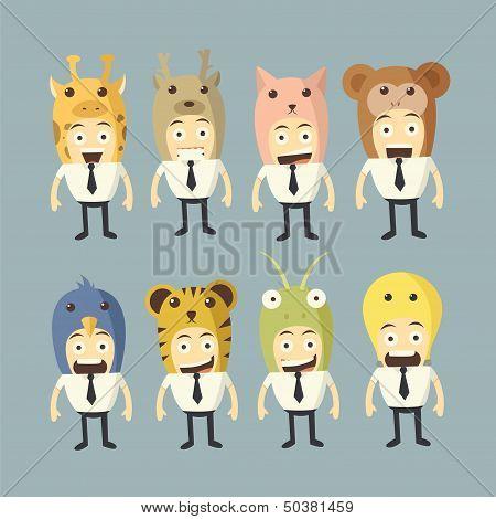 Businessman Cartoon Set