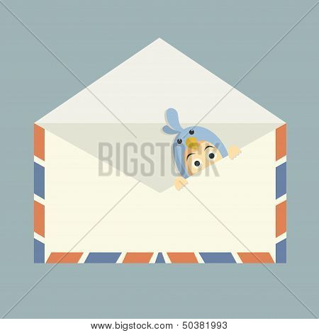 Blue Bird Inside Mail